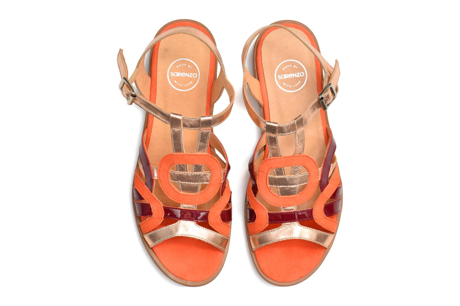 Sandalen Made by SARENZA Square Simone #2 orange ansicht von oben