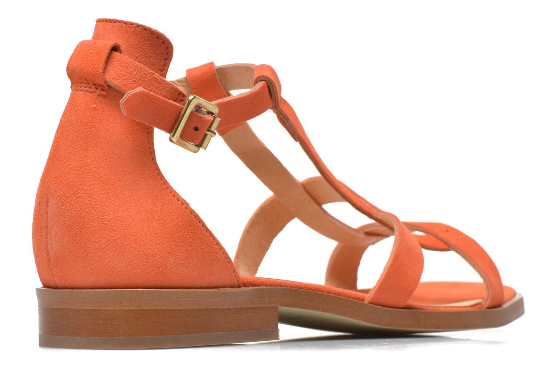 Sandalen Made by SARENZA Square Simone#6 orange schuhe getragen