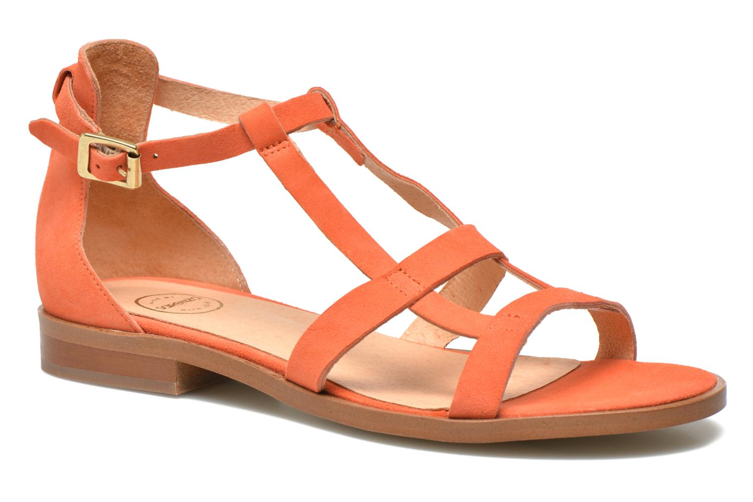 Sandals Made by SARENZA Square Simone#6 Orange front view