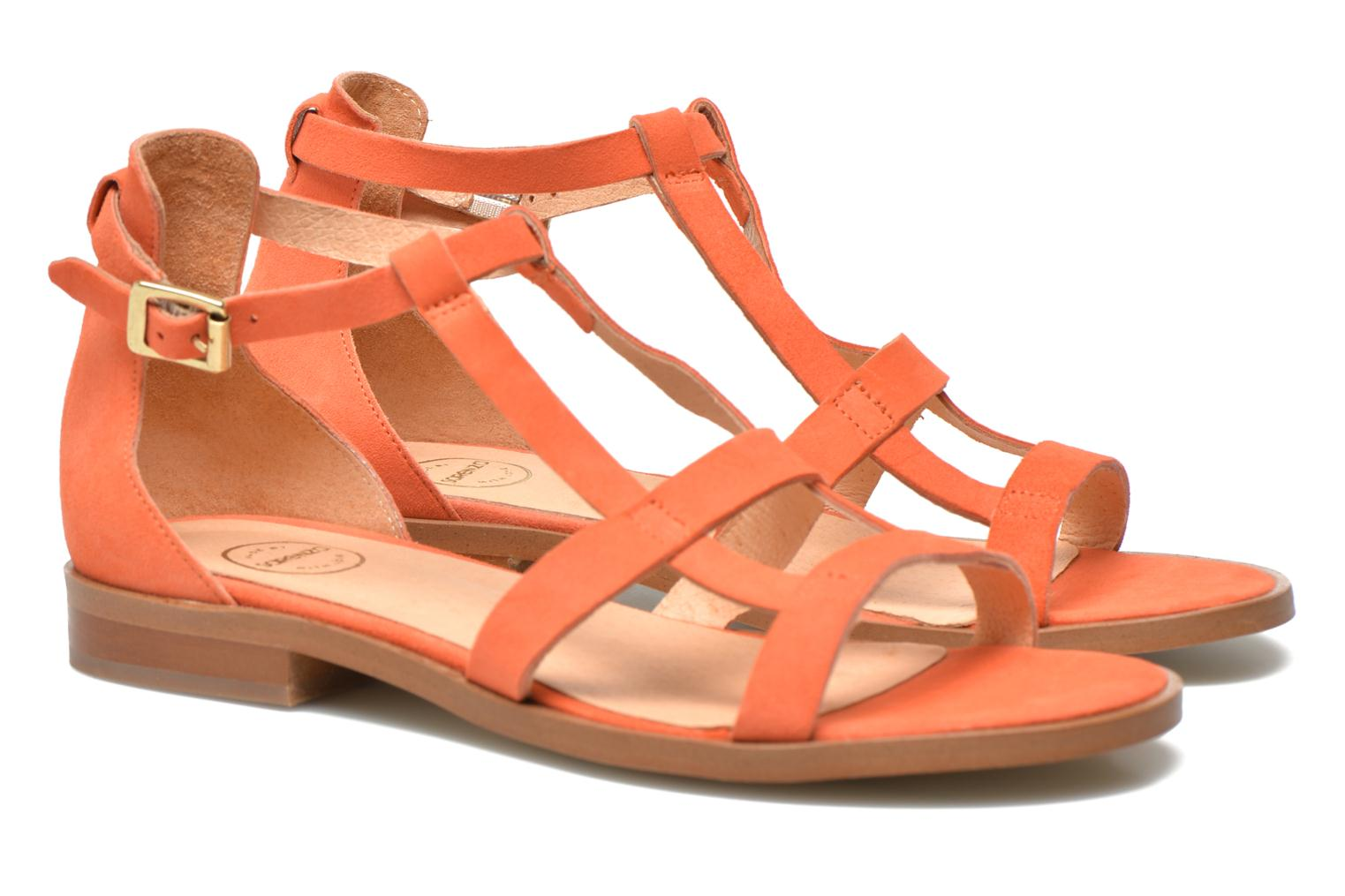 Sandals Made by SARENZA Square Simone#6 Orange view from the right
