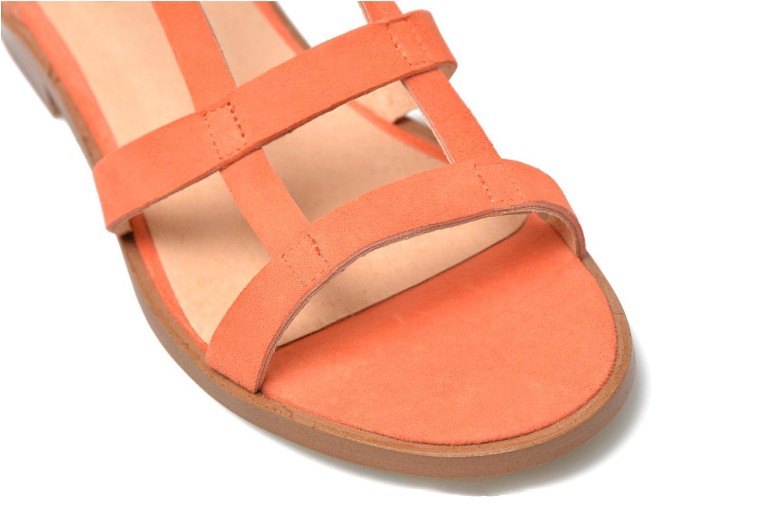 Sandals Made by SARENZA Square Simone#6 Orange back view