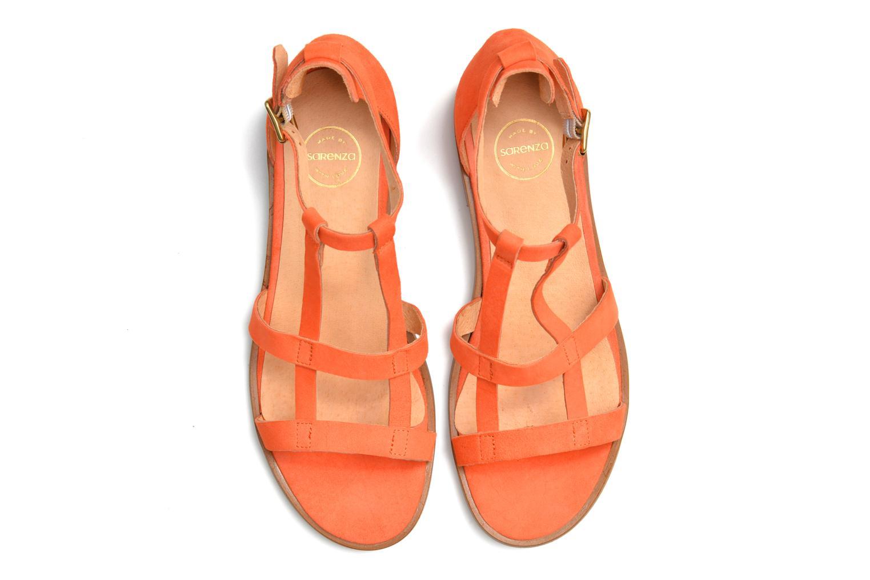 Sandalen Made by SARENZA Square Simone#6 orange ansicht von oben