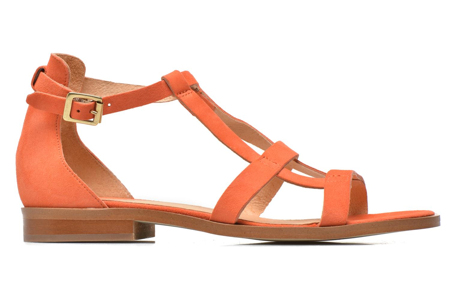 Sandals Made by SARENZA Square Simone#6 Orange detailed view/ Pair view