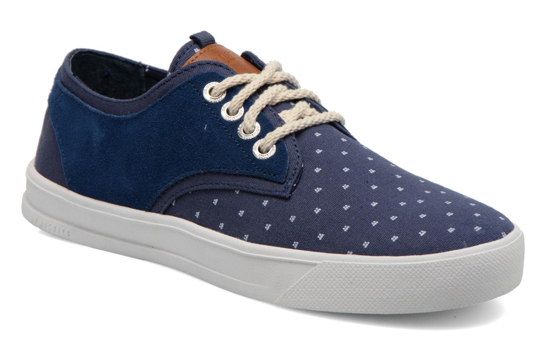 Sneakers Armistice Border Derby Ash Suede Blauw detail