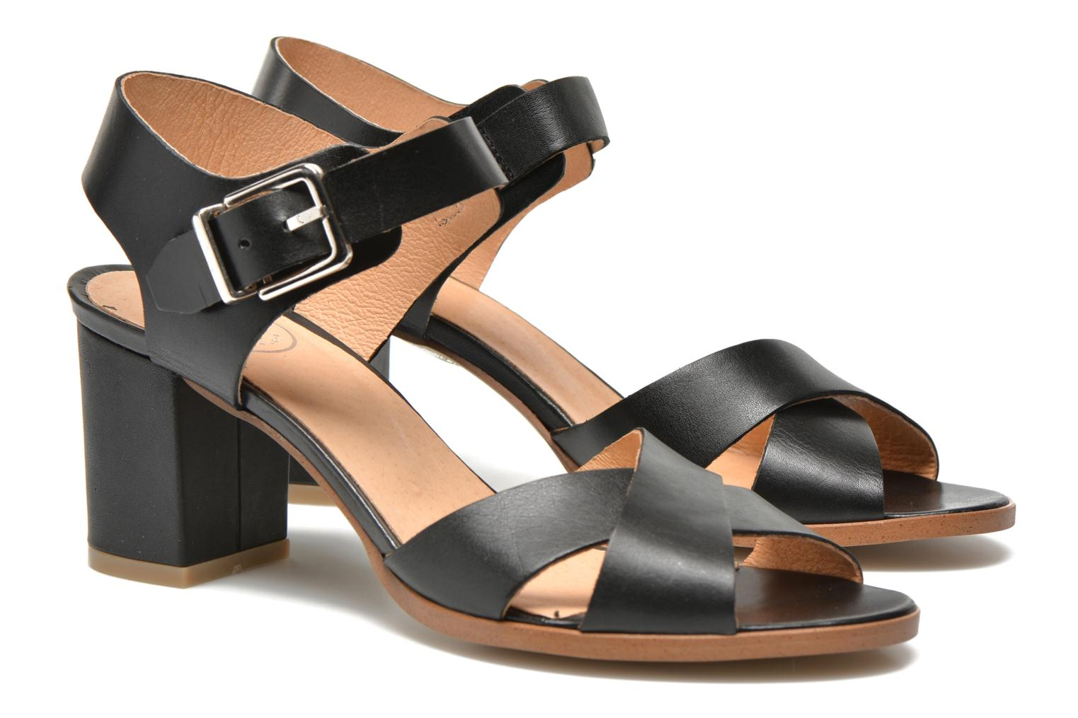 Sandals Made by SARENZA Menthe Hello #19 Black view from the right