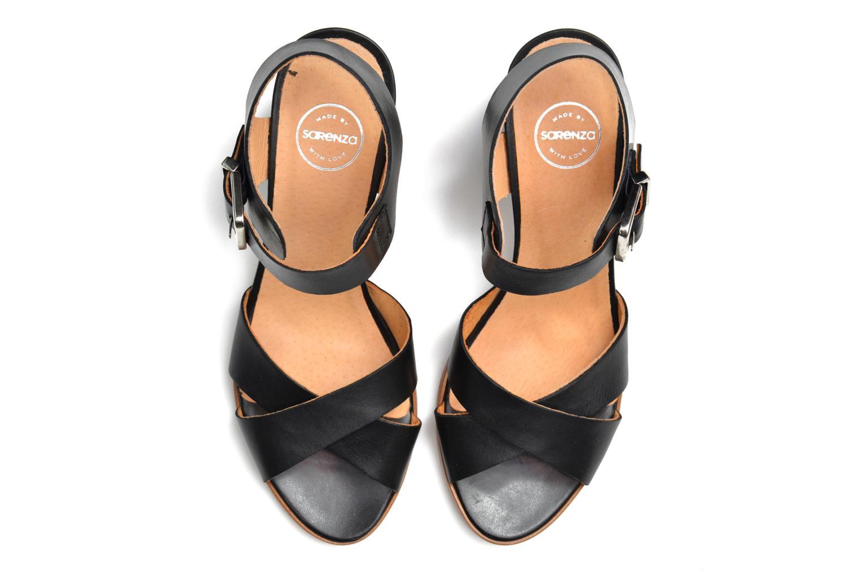 Sandalen Made by SARENZA Menthe Hello #19 schwarz ansicht von oben
