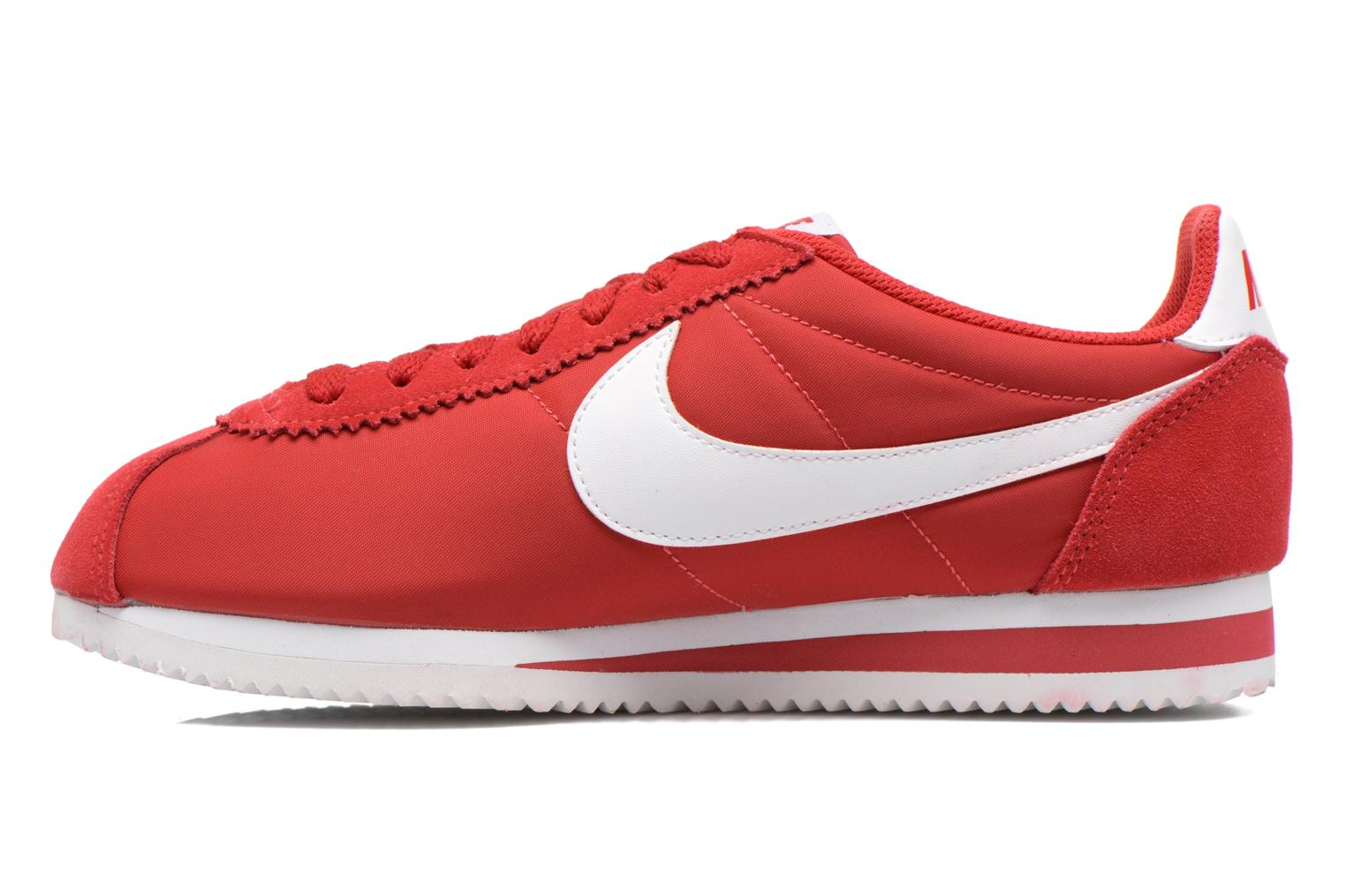 Baskets Nike Classic Cortez Nylon Rouge vue face