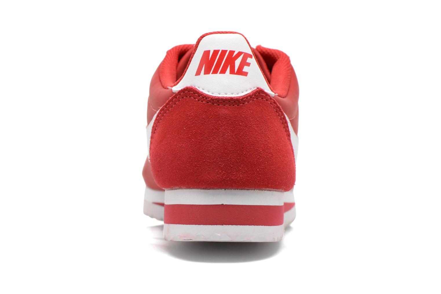 Trainers Nike Classic Cortez Nylon Red view from the right
