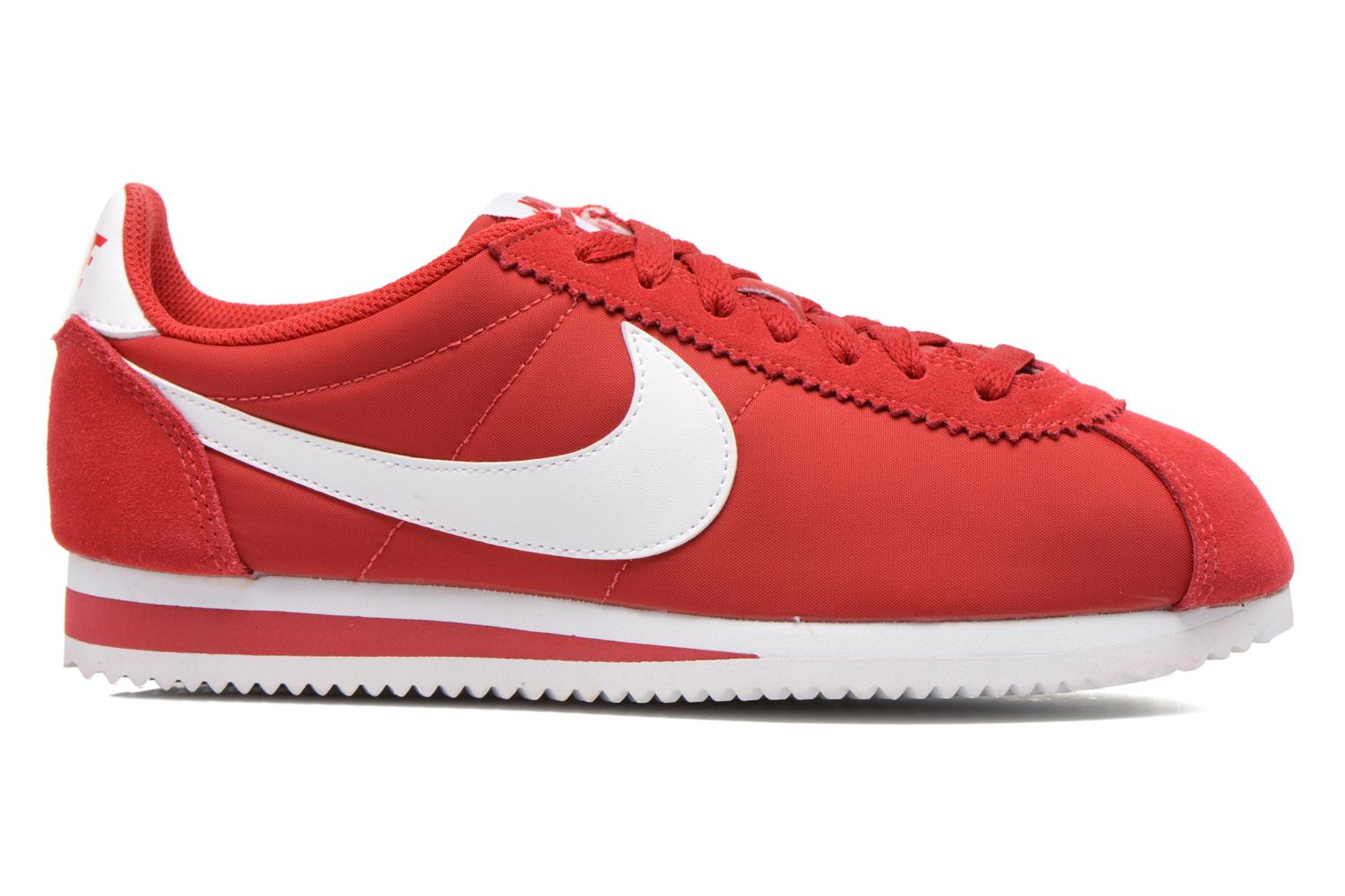 Sneakers Nike Classic Cortez Nylon Rood achterkant