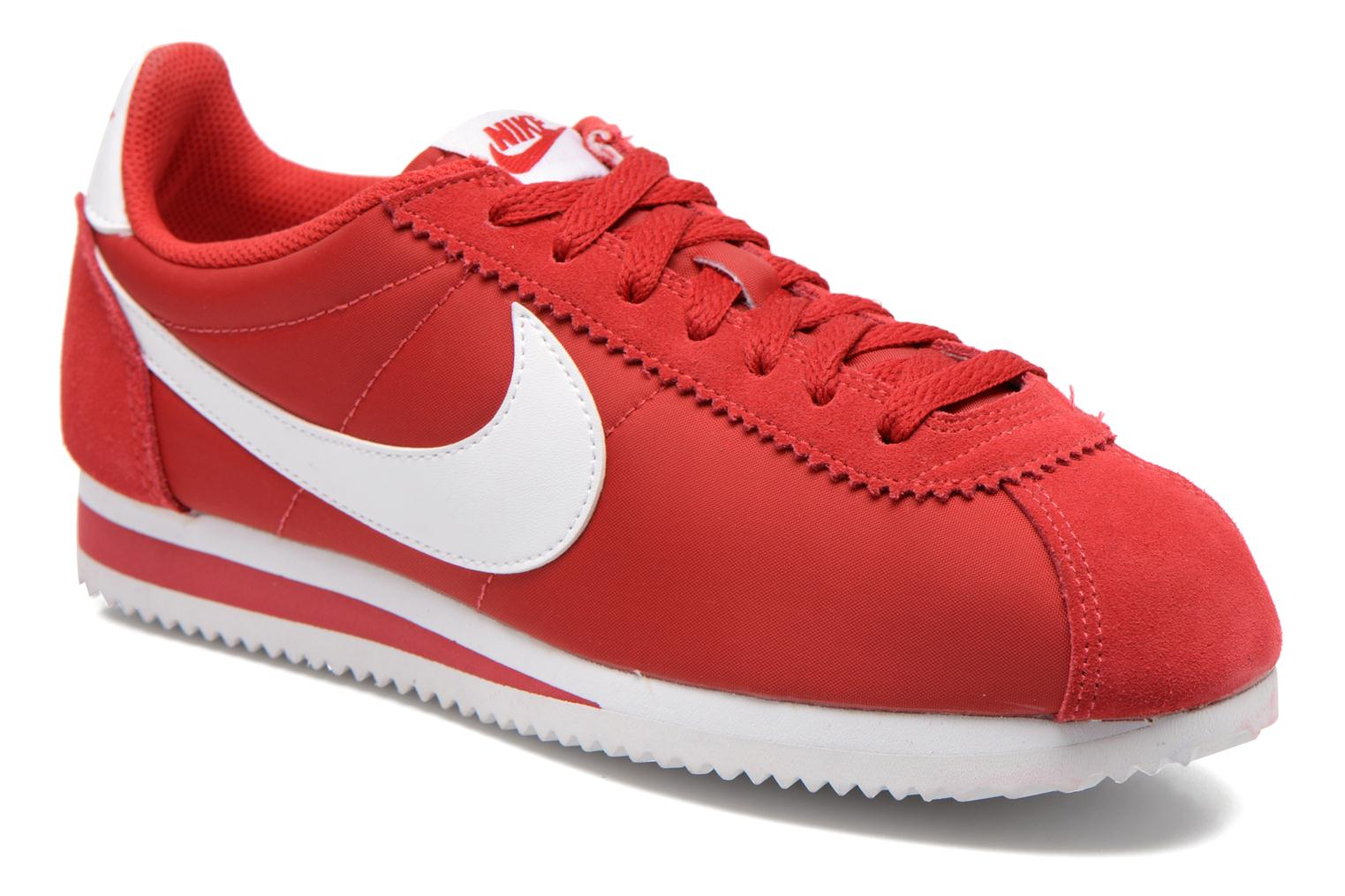 Trainers Nike Classic Cortez Nylon Red detailed view/ Pair view