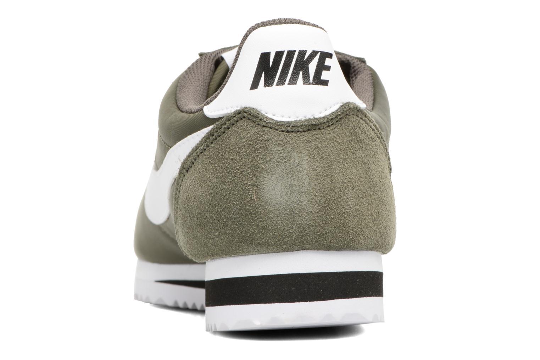 Deportivas Nike Classic Cortez Nylon Verde vista lateral derecha