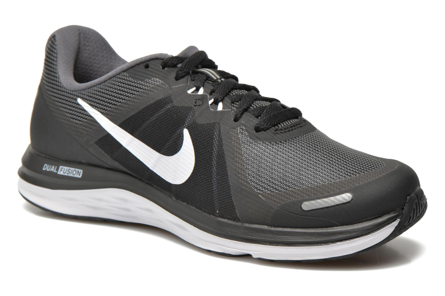 Wmns Nike Dual Fusion X 2 BLACK/WHITE-DARK GREY