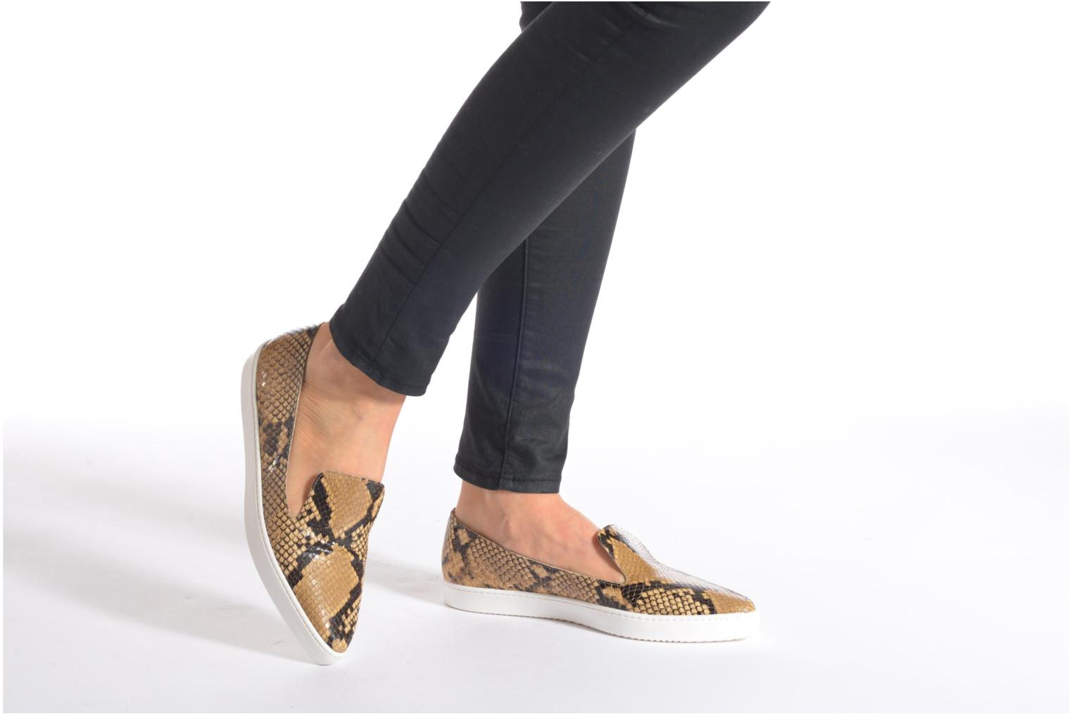 Loafers Fabio Rusconi Lido Beige view from underneath / model view
