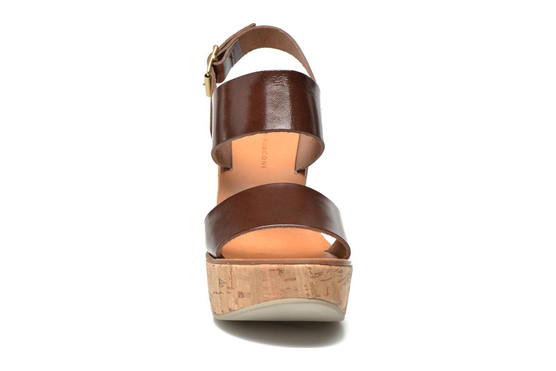 Sandales et nu-pieds Fabio Rusconi Lecea Marron vue portées chaussures