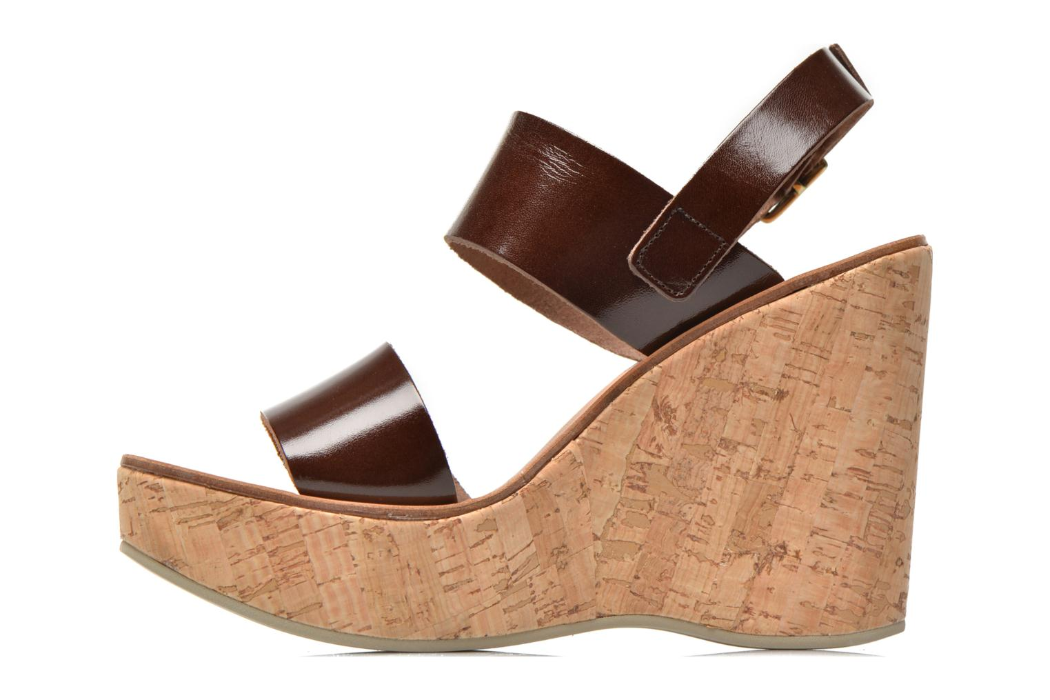 Sandals Fabio Rusconi Lecea Brown front view