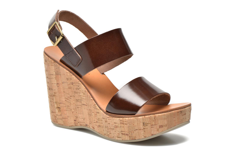 Sandaler Fabio Rusconi Lecea Brun detaljeret billede af skoene
