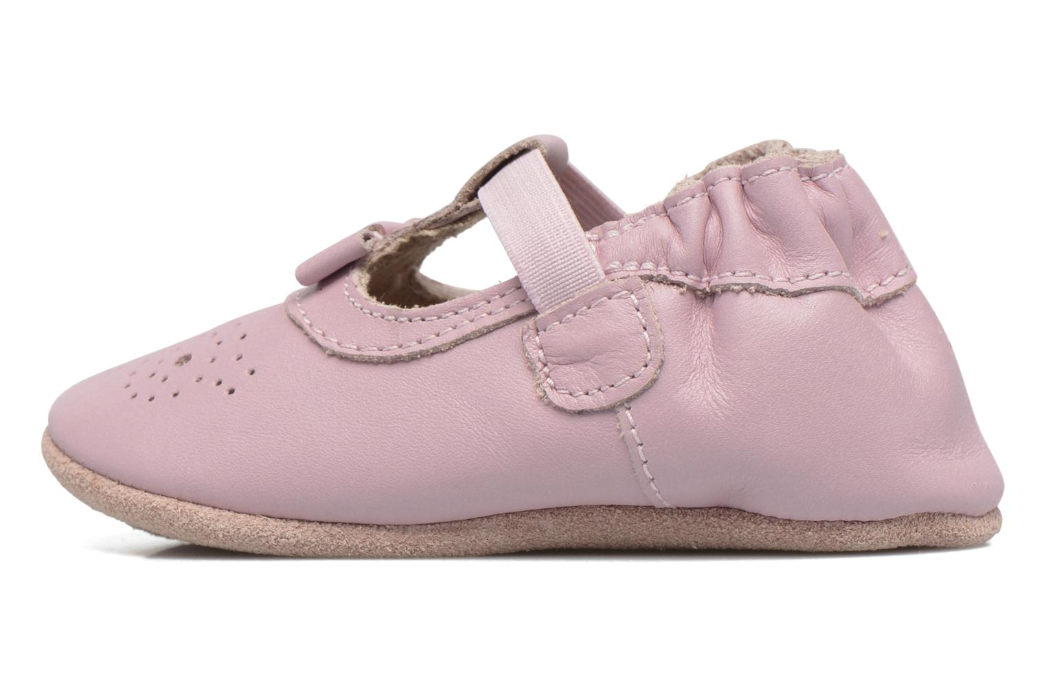 Chaussons Robeez Pretty Girl Rose vue face