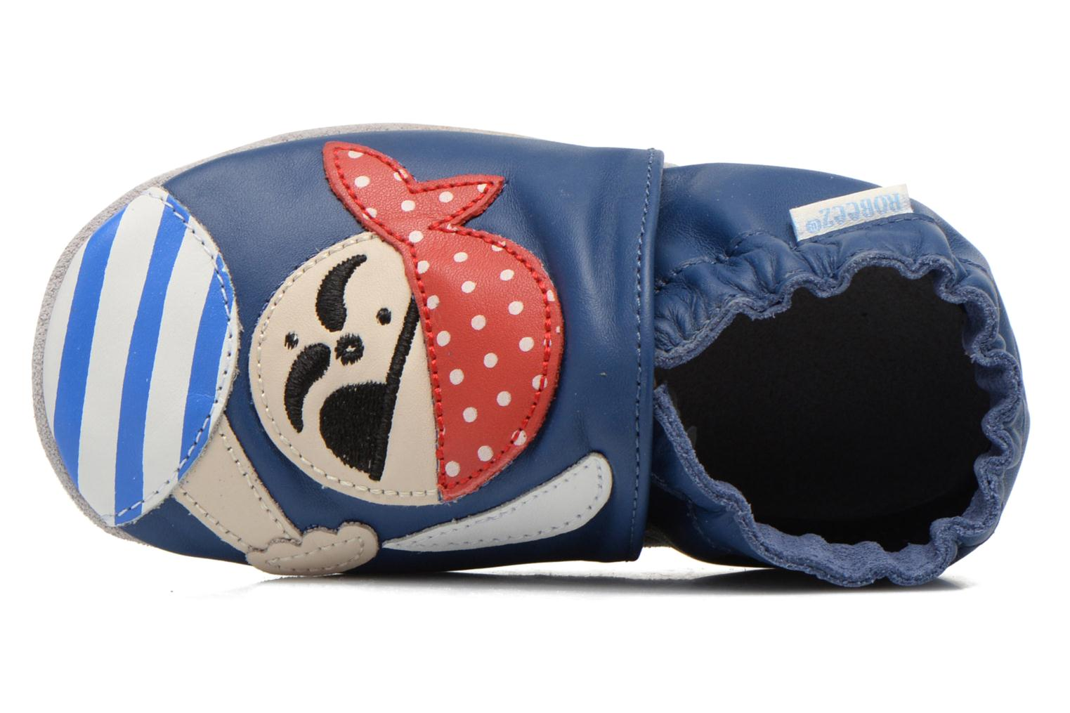 Pantoffels Robeez Jolly Peg Blauw links