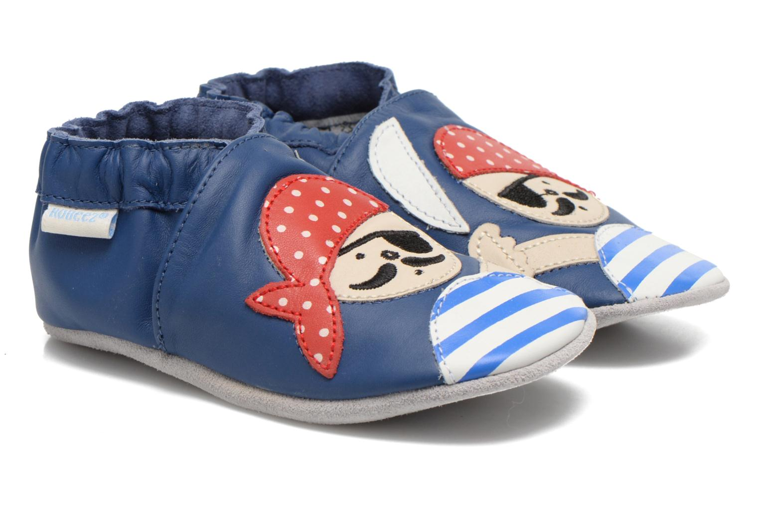 Slippers Robeez Jolly Peg Blue detailed view/ Pair view