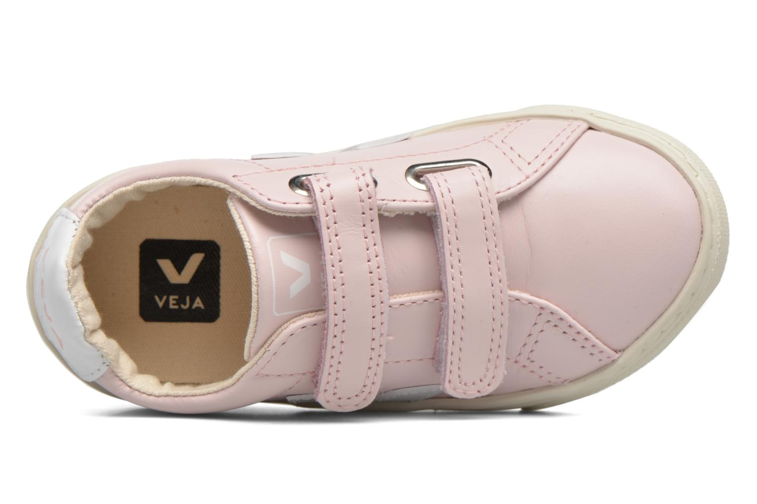 Baskets Veja Esplar Small Velcro Rose vue gauche