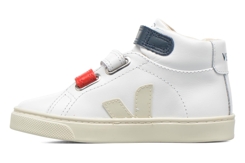 Sneakers Veja Esplar Mid Small Velcro Vit bild från framsidan