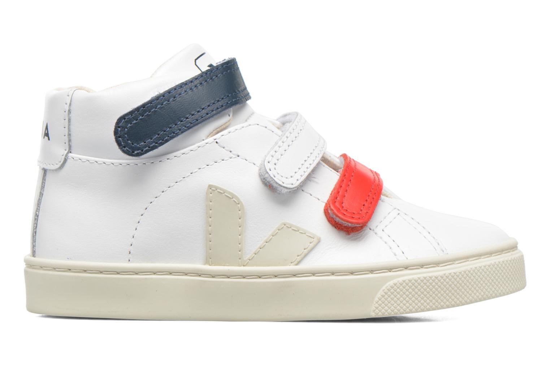 Sneakers Veja Esplar Mid Small Velcro Vit bild från baksidan