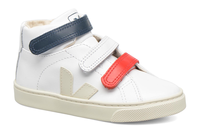 Sneakers Veja Esplar Mid Small Velcro Vit detaljerad bild på paret