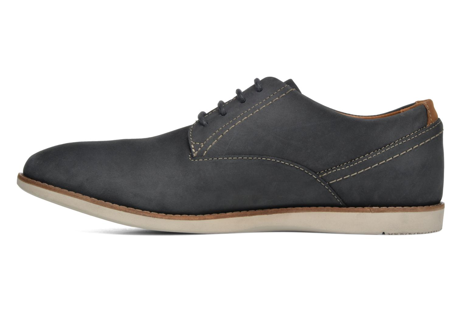 Lace-up shoes Clarks Franson Plain Blue front view
