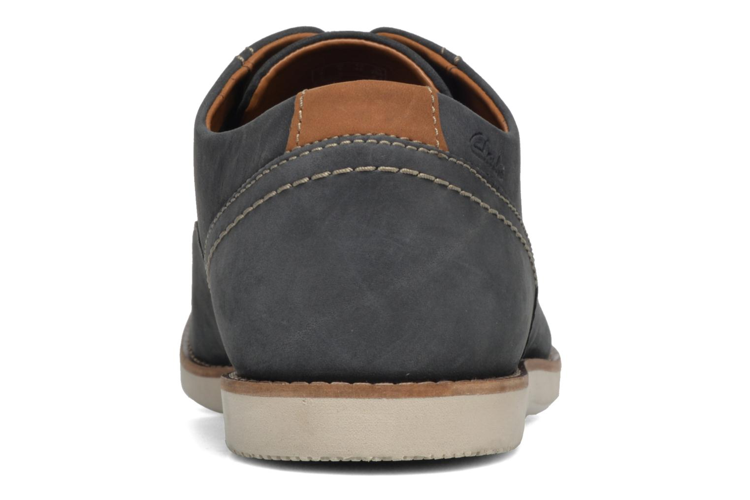 Lace-up shoes Clarks Franson Plain Blue view from the right