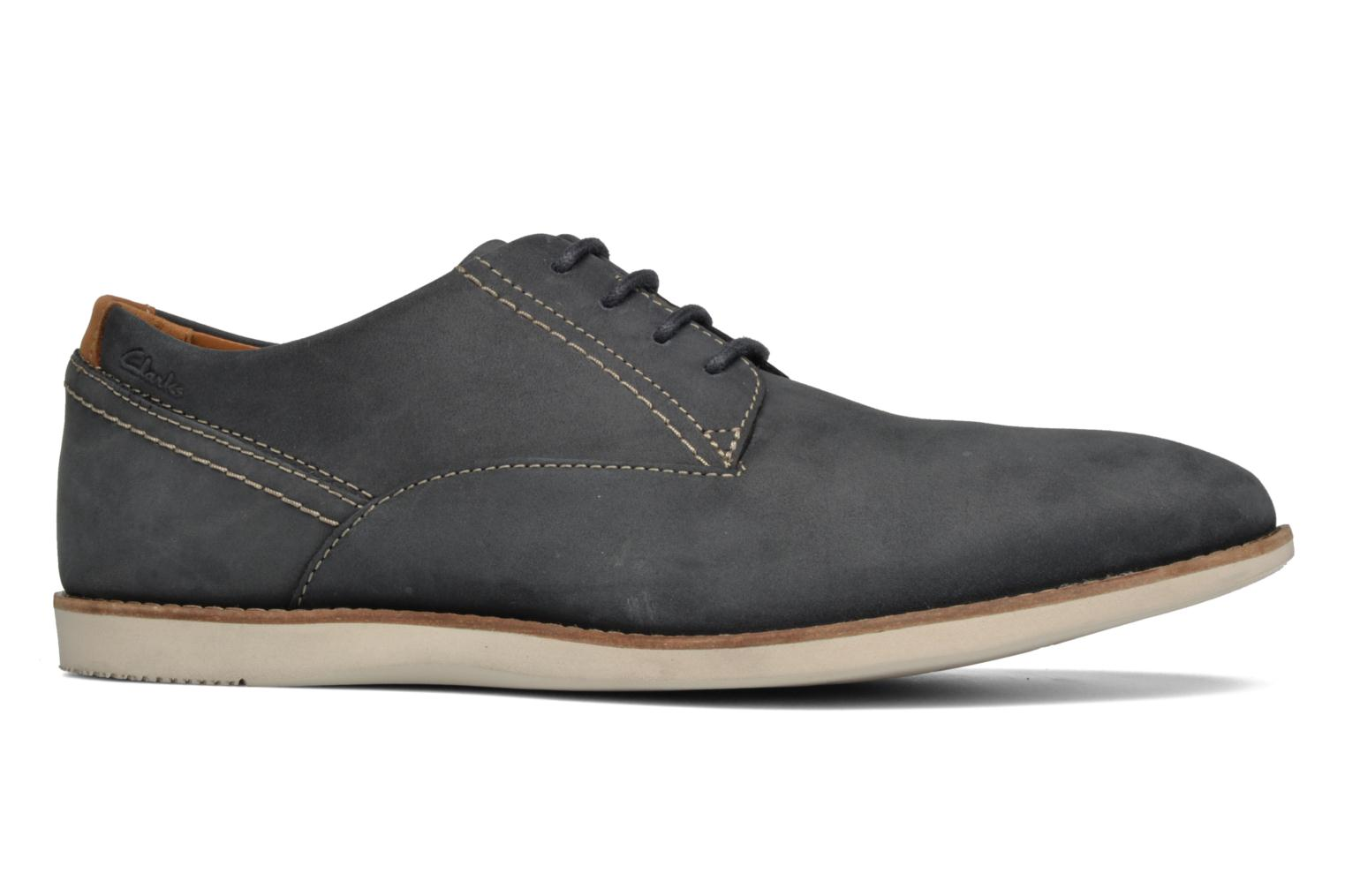 Lace-up shoes Clarks Franson Plain Blue back view