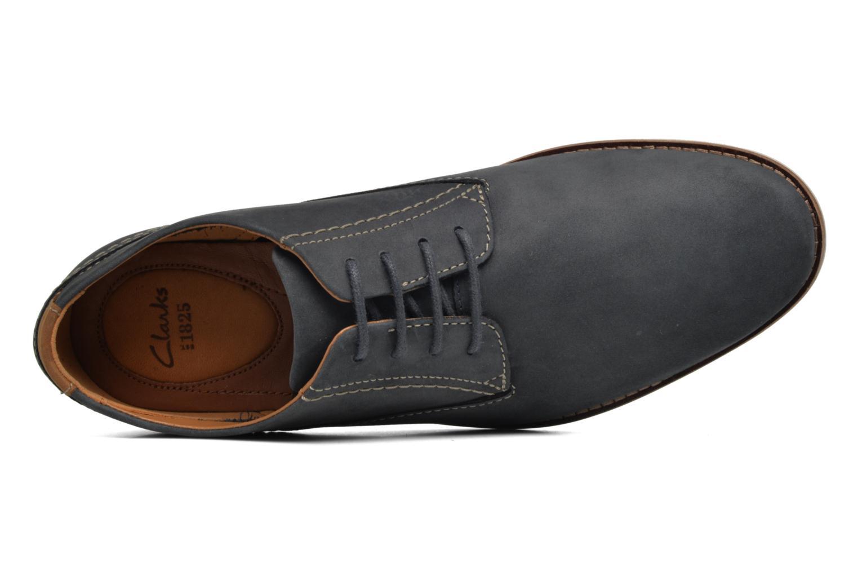Zapatos con cordones Clarks Franson Plain Azul vista lateral izquierda