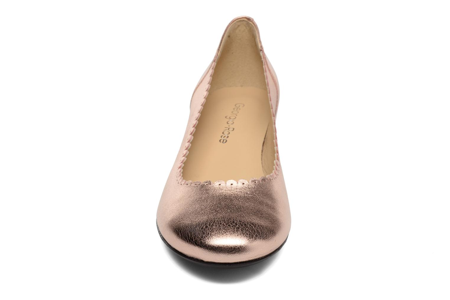 Ballet pumps Georgia Rose Sabby Bronze and Gold model view