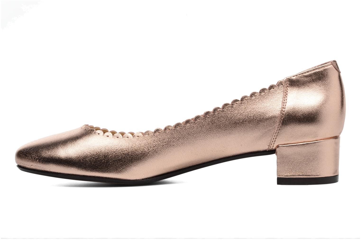 Ballet pumps Georgia Rose Sabby Bronze and Gold front view