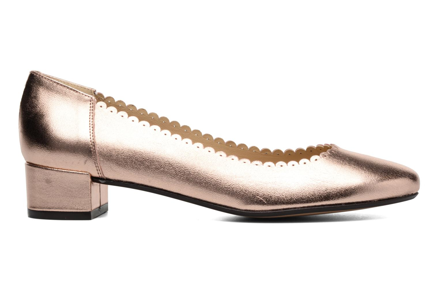 Ballet pumps Georgia Rose Sabby Bronze and Gold back view