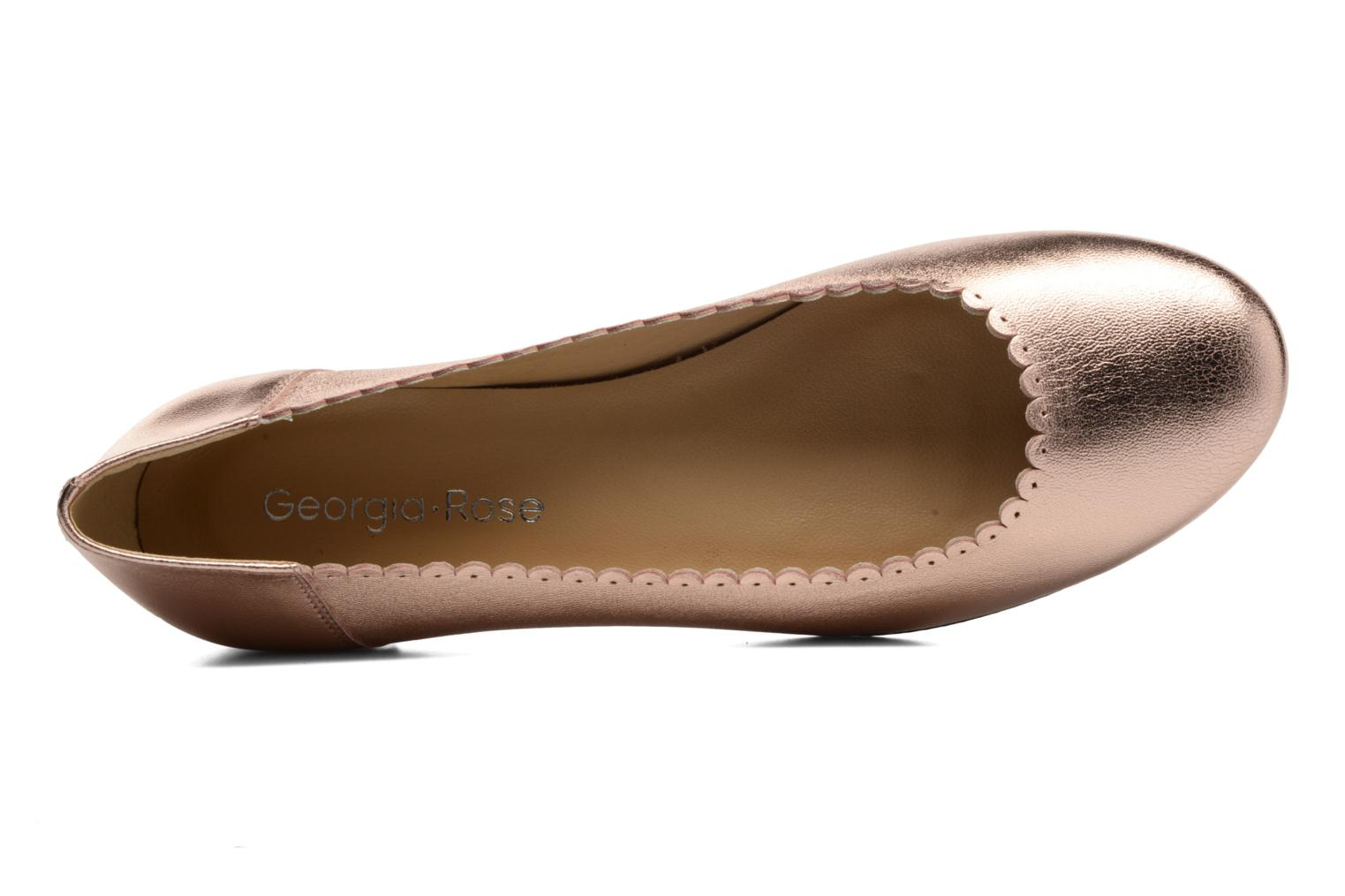 Ballet pumps Georgia Rose Sabby Bronze and Gold view from the left