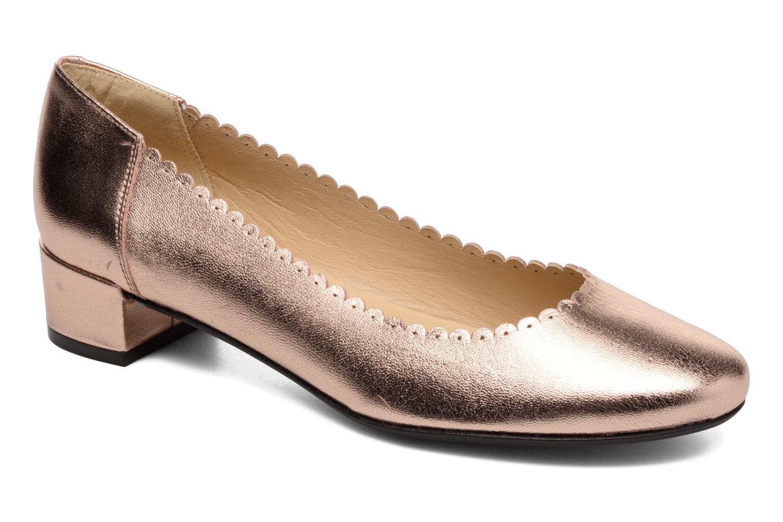 Ballerinaer Georgia Rose Sabby Guld og bronze detaljeret billede af skoene