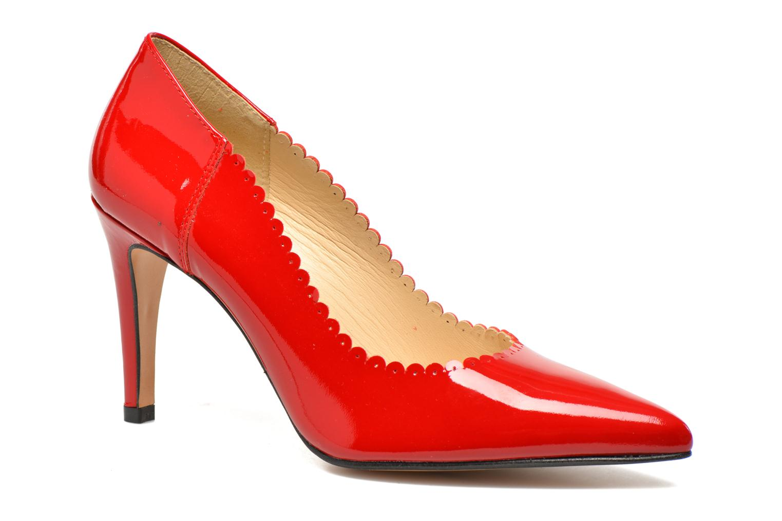 High heels Georgia Rose Safecto Red detailed view/ Pair view