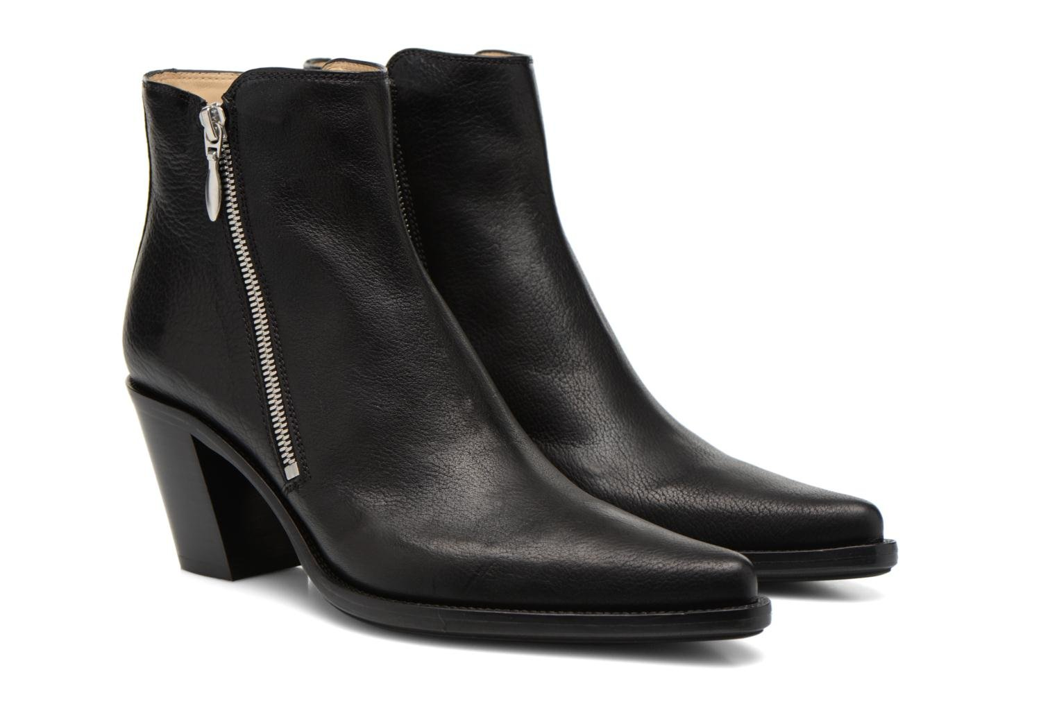 Ankle boots Free Lance Okao 7 Boot 2 Zip Black 3/4 view