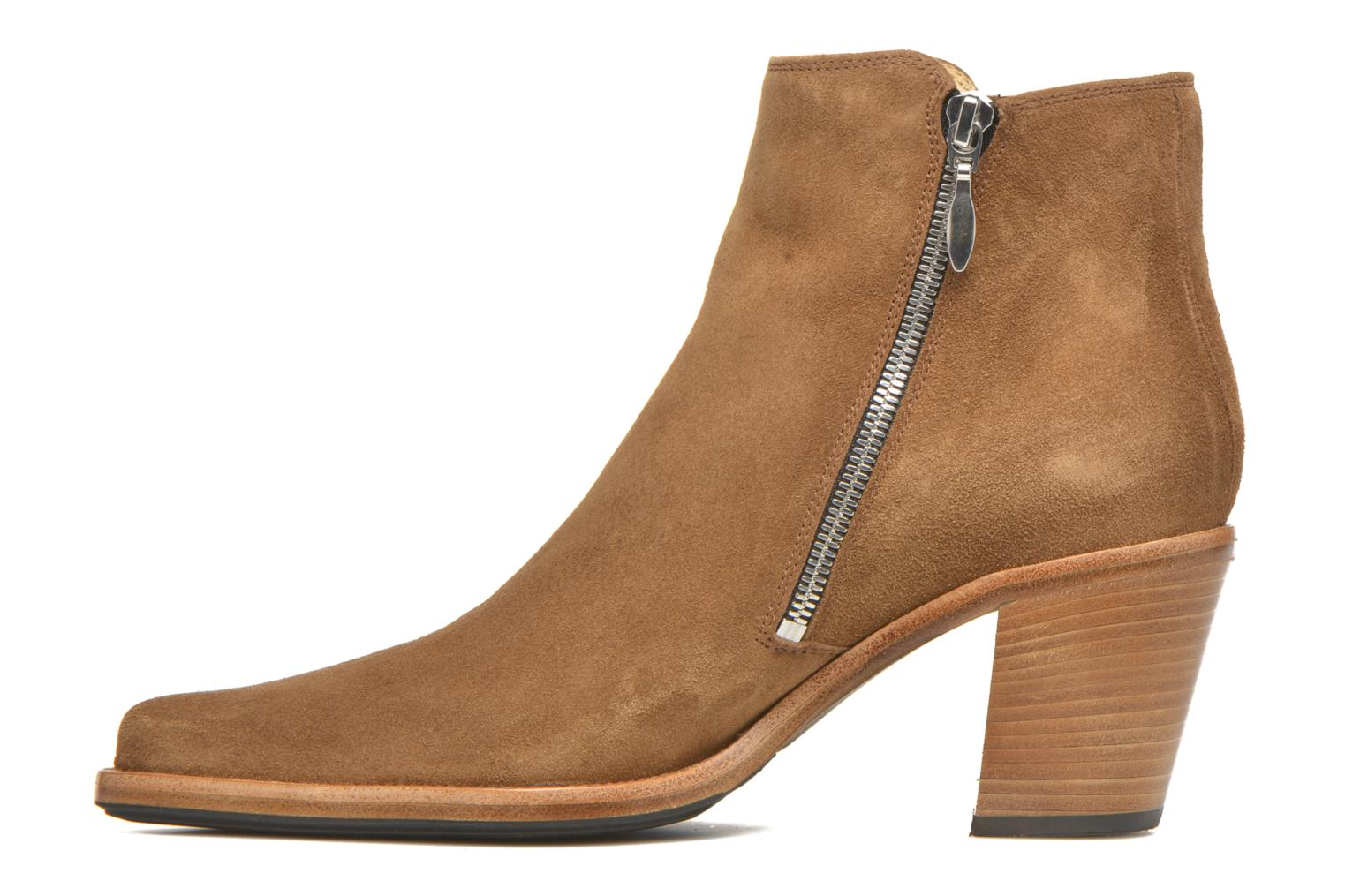 Ankle boots Free Lance Okao 7 Boot 2 Zip Brown front view