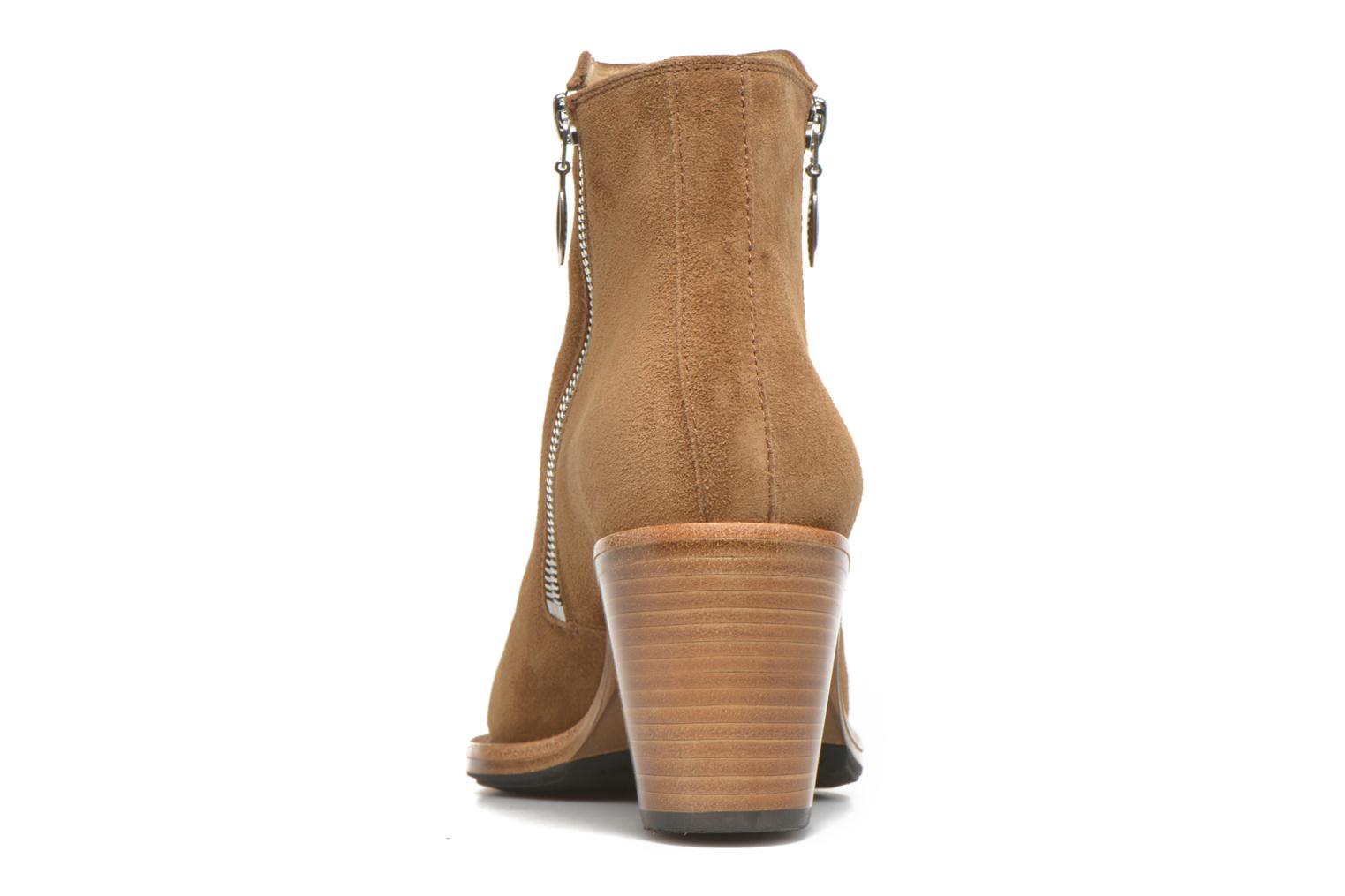 Ankle boots Free Lance Okao 7 Boot 2 Zip Brown view from the right