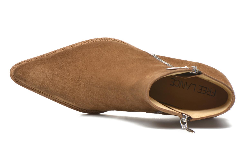 Bottines et boots Free Lance Okao 7 Boot 2 Zip Marron vue gauche