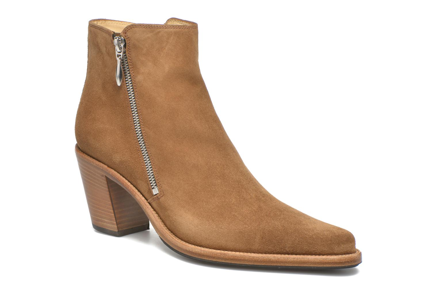 Ankle boots Free Lance Okao 7 Boot 2 Zip Brown detailed view/ Pair view