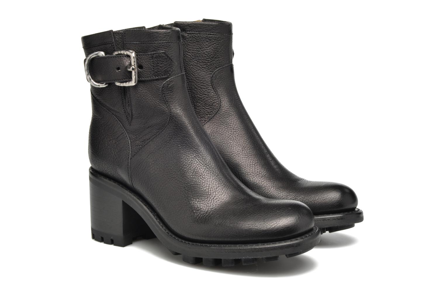 Ankle boots Free Lance Justy 7 Small Gero Buckle Black 3/4 view