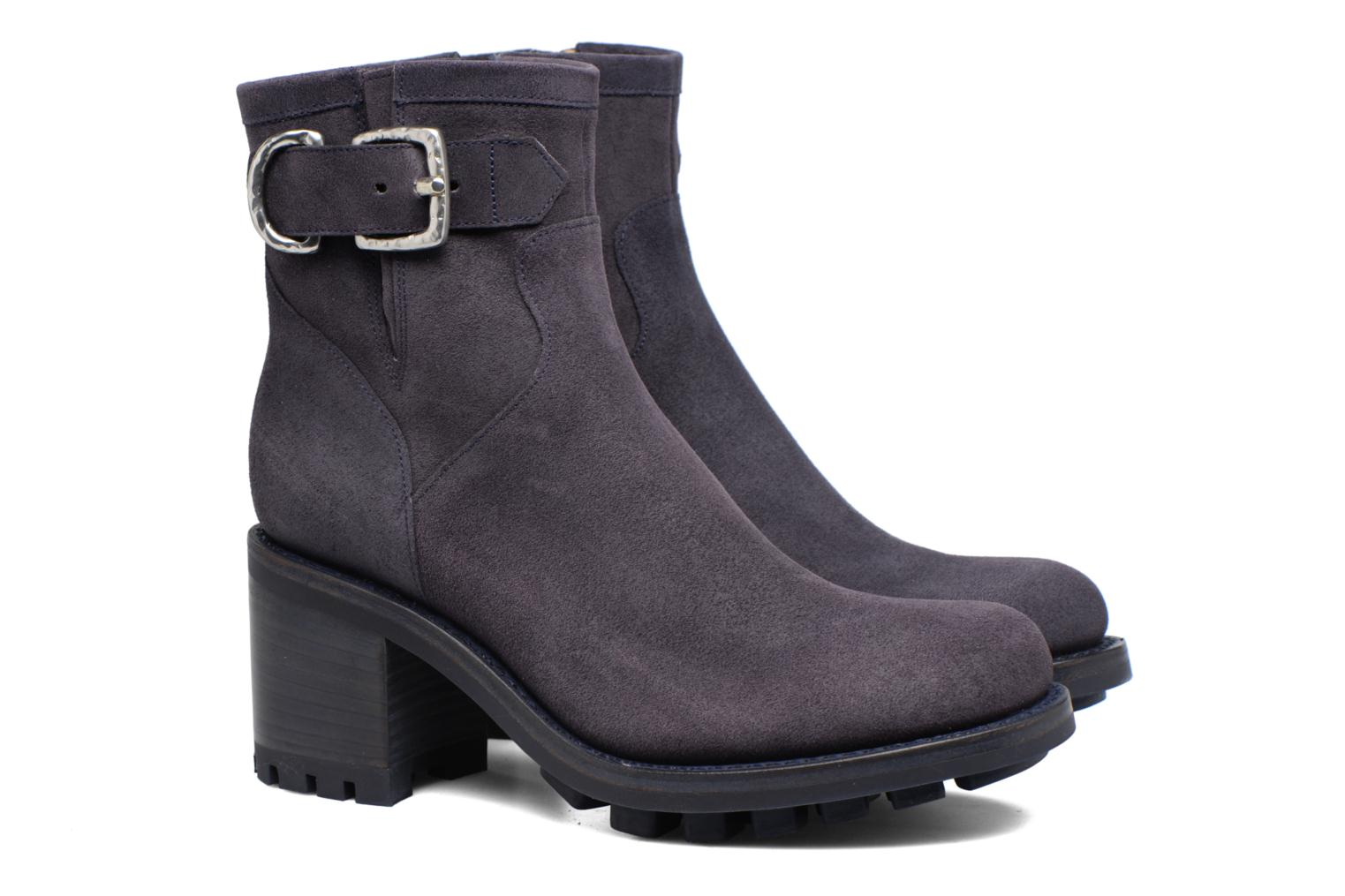 Ankle boots Free Lance Justy 7 Small Gero Buckle Blue 3/4 view