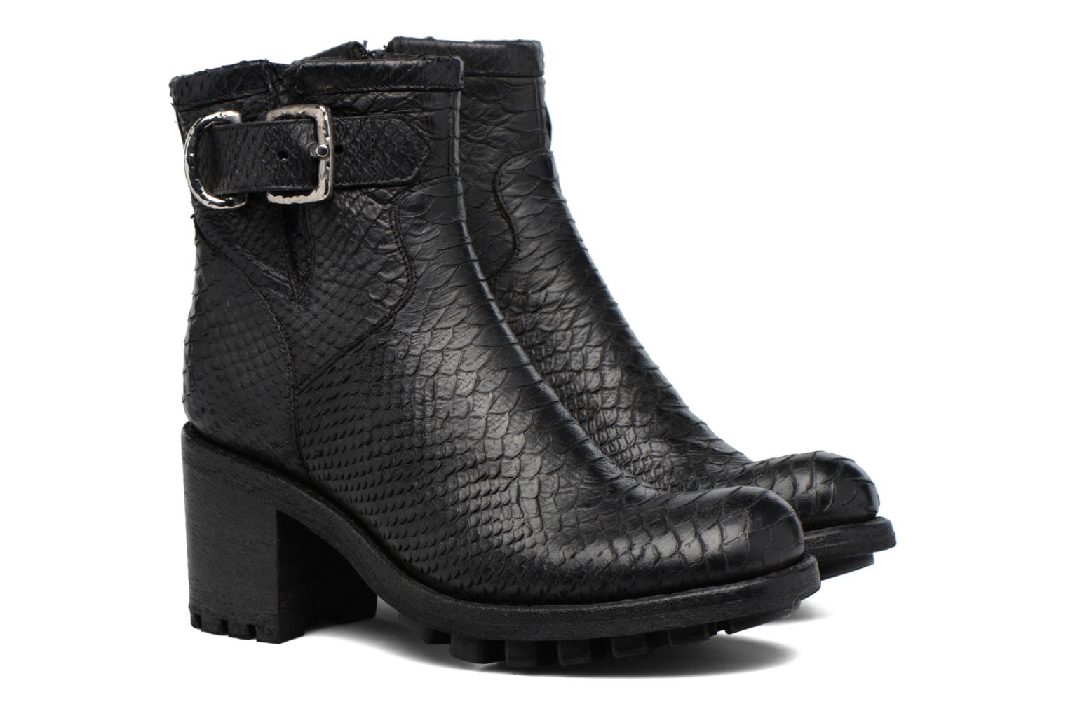 Bottines et boots Free Lance Justy 7 Small Gero Buckle Noir vue 3/4