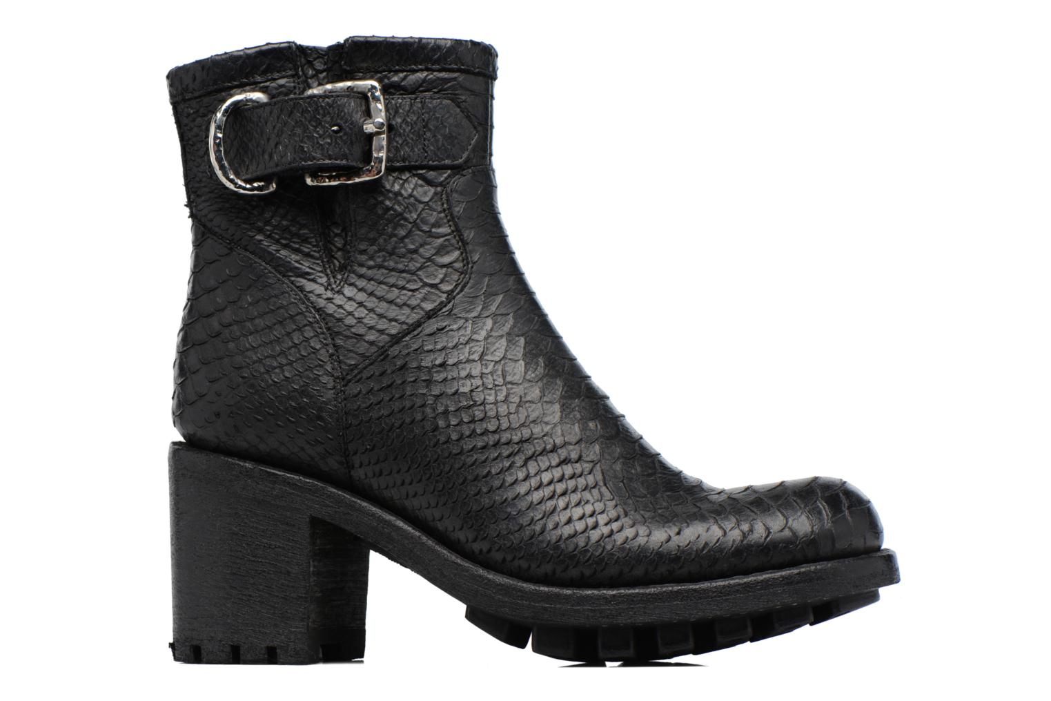 Justy 7 Small Gero Buckle Diamente Wash Noir