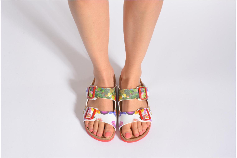 Clogs & Pantoletten Desigual SHOES_BIO 2 mehrfarbig ansicht von unten / tasche getragen