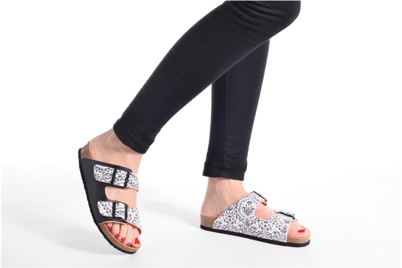 Clogs & Pantoletten Desigual SHOES_BIO 2 schwarz ansicht von unten / tasche getragen