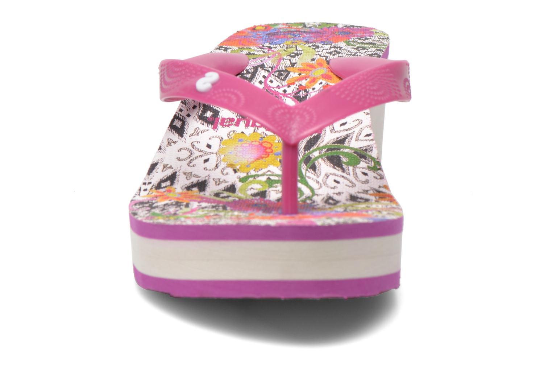Tongs Desigual SHOES_LOLA 2 Rose vue portées chaussures