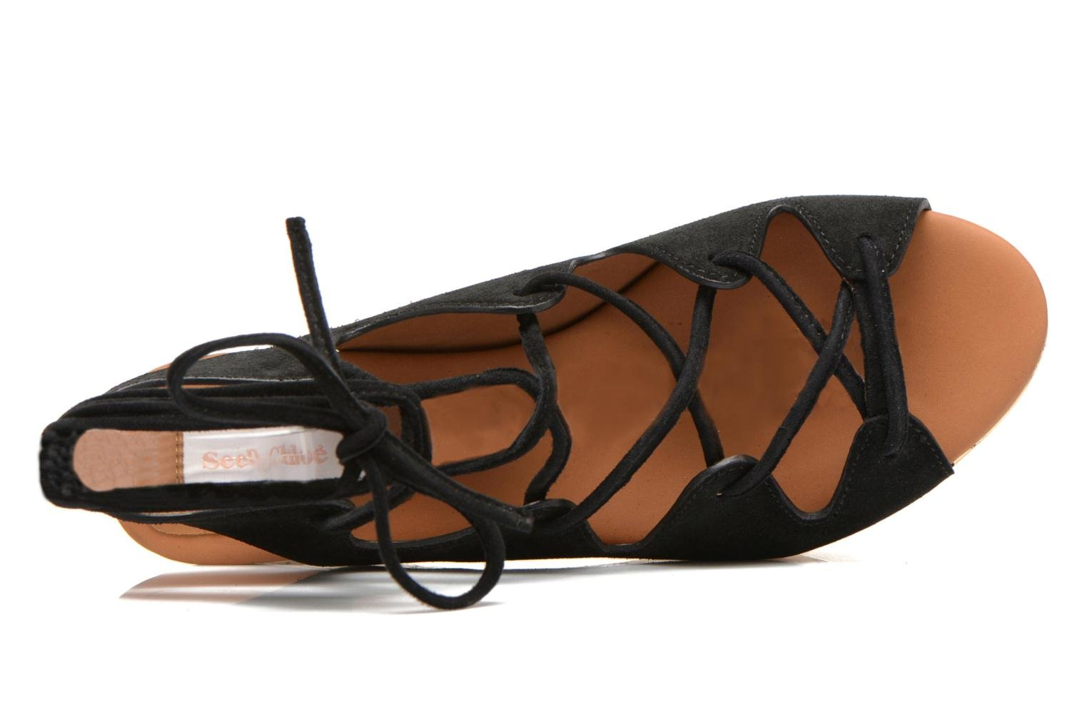 Sandals See by Chloé Ezima Black view from the left